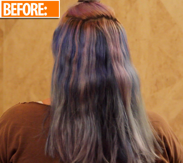 10 ways to remove stubborn blue hair dye heres the before and after solutioingenieria Gallery
