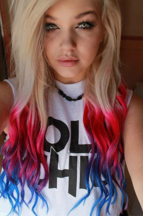Red white blue ombre