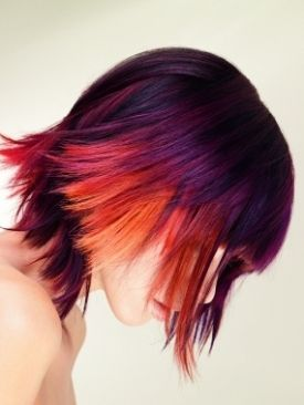 dusky sunset ombre hair